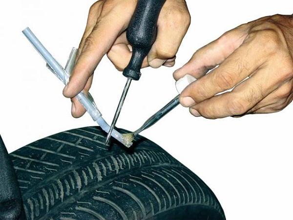 Ремонт шин в дороге