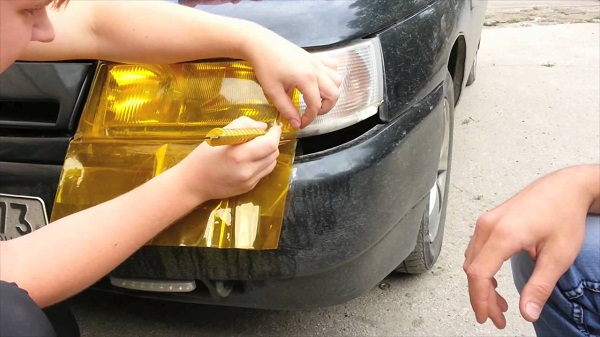 Тонировка фар автомобиля своими руками