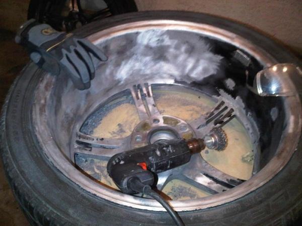 Подготовка литых дисков к покраске